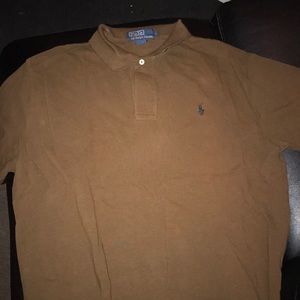 Brown classic polo shirt